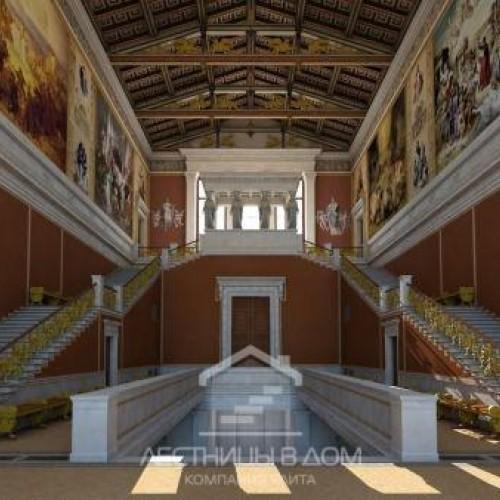 На Музейном острове в Берлине показывают лестницу – старую и новую