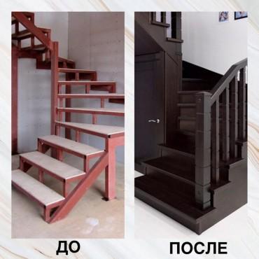 Обшивка ступеней бетонной лестницы