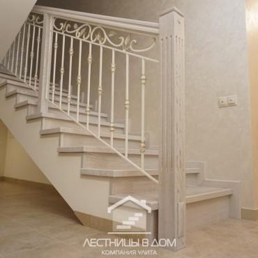 Обшивка бетонной лестницы в подвал и на второй этаж, г. Павловский Посад